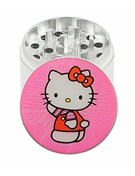 "Hello Kitty   1.65"" 4 Layer Aluminum Herb Spice Grinder (With Pollen Screen)   Top Covered With Clear Doming by Eternal Shades"