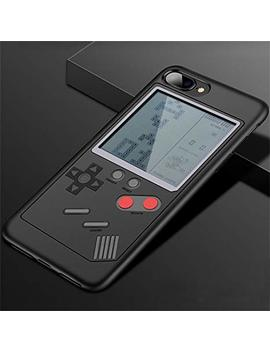 I Phone Case Tetris Game Phone Case Decompression Game I Phone 6/7/8/X Compatible   Slim Fit   Lightweight   Hard Shell   Retro Gamer Case   Retail Box Packaging (Black, For Iphone 7/8 Plus) by Ht Direct