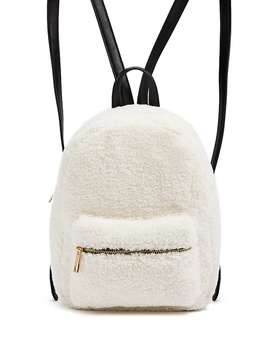 Faux Shearling & Faux Leather Backpack by Forever 21