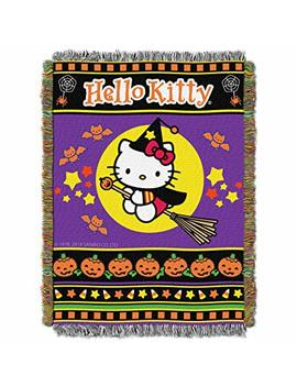 "Sanrio Hello Kitty, Witchy Kitty Woven Tapestry Throw Blanket, 48"" X 60"" by Sanrio"