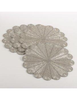 Saro Flora Flower Design Beaded Placemat & Reviews by Saro