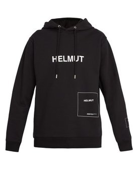 Logo Printed Hooded Sweatshirt by Helmut Lang