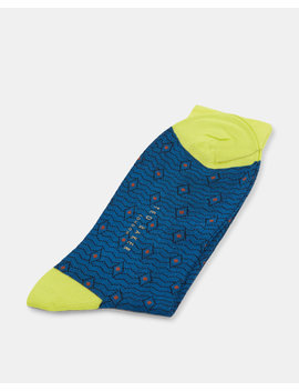 Diamond Spot Organic Cotton Blend Socks by Ted Baker