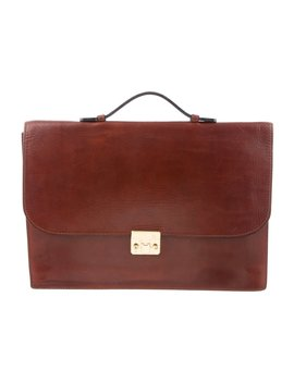 Embossed Leather Briefcase by Bottega Veneta