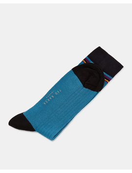 Vertical Striped Cotton Socks by Ted Baker