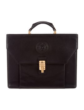 Vintage Leather Briefcase by Versace