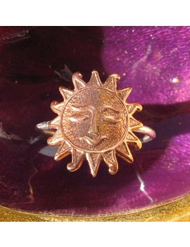 Sun Ring//Copper Sun Ring// Silver Sun Ring by Etsy