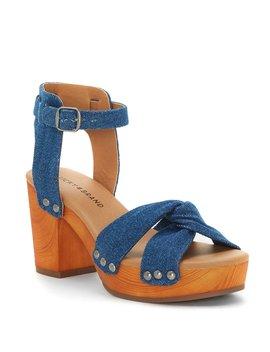 Whitneigh Denim Studded Block Heel Sandals by Lucky Brand
