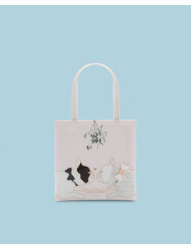 Small Cotton Dog Mistletoe Icon Bag by Ted Baker