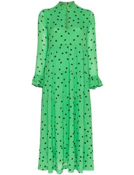 Polka Dot Maxi Dress by Ganni