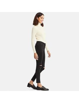 Women Ultra Stretch Mid Rise Jeans by Uniqlo