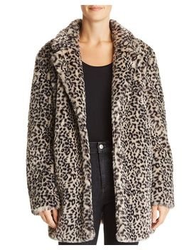 Leopard Print Faux Fur Jacket   100 Percents Exclusive by Aqua