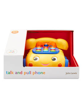 John Lewis & Partners Talk And Pull Phone Toy by John Lewis & Partners