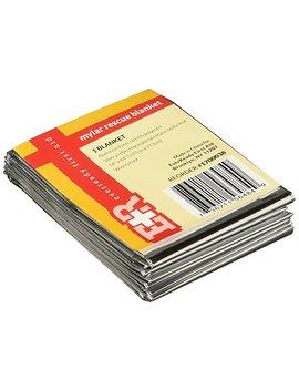 Mylar Men's Emergency Thermal Blankets (10 Pack) by Mylar