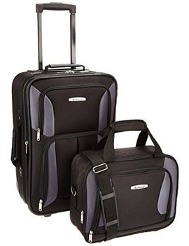 Rockland Luggage 2 Piece Set, Black/Gray, One Size by Rockland