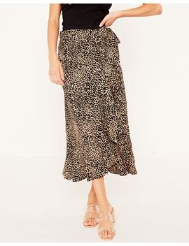 Leopard Frill Wrap Skirt by Glassons