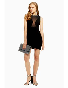 Neck Trim Bodycon Dress by Topshop