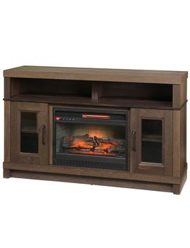 Ashmont 54 In. Freestanding Electric Fireplace Tv Stand In Aged Oak by Home Decorators Collection