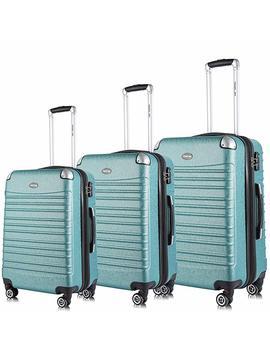 Expandable Luggage Set, Tsa Lightweight Spinner Luggage Sets, Carry On Luggage 3 Piece Set Free Gift Inside by Travel Joy