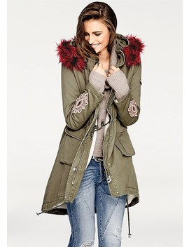 Faux Fur Hooded Coat by Venus