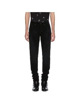 Black Skinny Cord Trousers by Saint Laurent