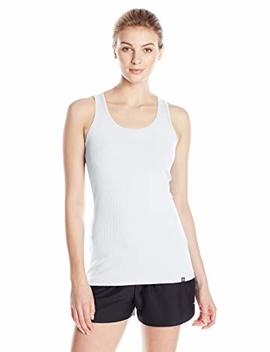 Women's Under Armour Tech Victory Tank, White (100), Medium by Amazon
