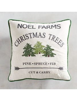Christmas Tree Farm Pillow by Pier1 Imports