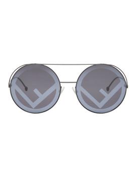 Black 'f Is Fendi' Sunglasses by Fendi