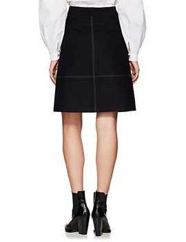 Assa Wool Blend A Line Skirt by Les Coyotes De Paris