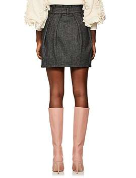 Leo Wool Blend Belted Skirt by Ulla Johnson