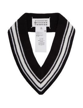Black & White V Neck Scarf by Maison Margiela