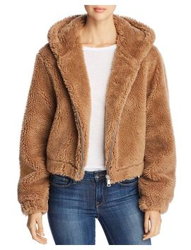Hooded Faux Fur Jacket by Bagatelle