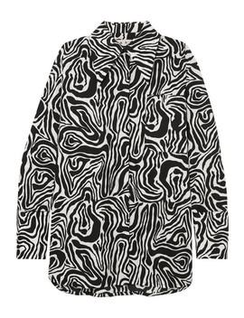 Oversized Zebra Print Cotton Poplin Shirt by Marni
