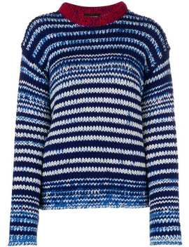 Striped Knit Sweater by Calvin Klein 205 W39nyc