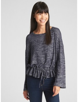Softspun Long Sleeve Peplum Top by Gap