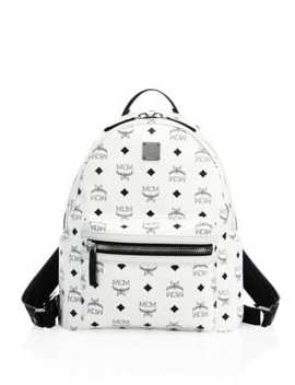 Small Stark Monogrammed Coated Canvas Backpack by Mcm