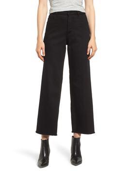 Hepburn High Waist Raw Hem Wide Leg Jeans by Dl1961