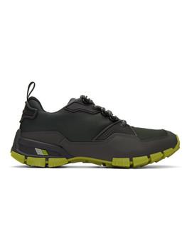 Grey Chunky Sole Sneakers by Prada