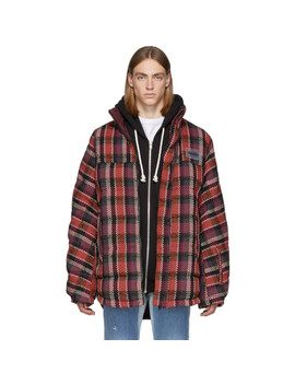 Reversible Brown Check Acho Jacket by Napa By Martine Rose