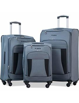 Merax Flieks 3 Piece Luggage Set Expandable Spinner Suitcase by Merax