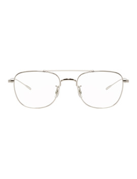Silver Kress Glasses by Oliver Peoples