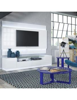 Vanderbilt White Gloss Entertainment Center by Manhattan Comfort