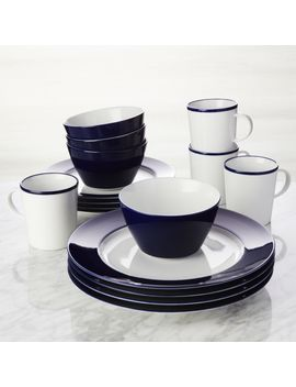 Maison Cobalt Blue 16 Piece Dinnerware Set by Crate&Barrel