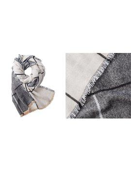 Yarn Dye Scarf Grey Windowpane by Indigo