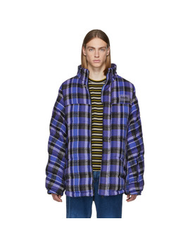 Reversible Blue Check Acho Jacket by Napa By Martine Rose