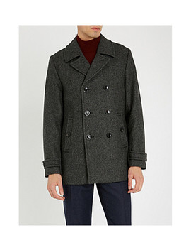 Grilld Double Breasted Wool Blend Coat by Ted Baker