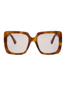 Tortoiseshell Feminine Chic Sunglasses by Gucci