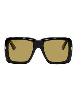 Black & Yellow Bold Sunglasses by Gucci