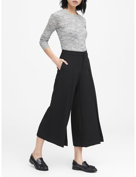 High Rise Wide Leg Cropped Pant by Banana Repbulic