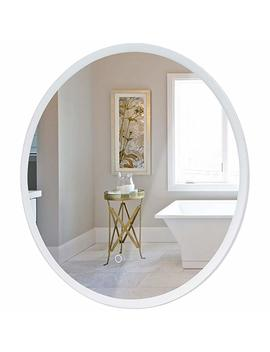 "Tangkula 24"" Led Mirror Round Wall Mount Lighted Mirror Bathroom Bedroom Home Furniture Illuminated Vanity Make Up Lamp Wall Mounted Mirror With Touch Button (24"") by Tangkula"